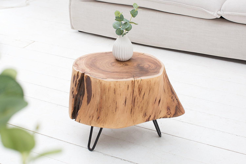 DuNord Design Tavolino ACACIA 35 cm in legno di acacia massiccio naturale