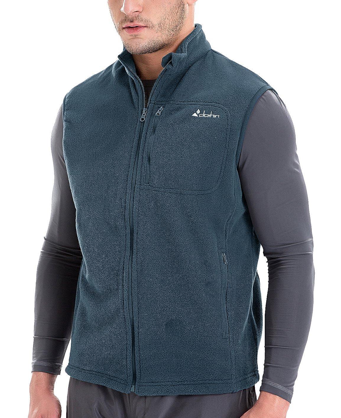 Clothin Men/Women Full Zip Fleece Vest CV15001M