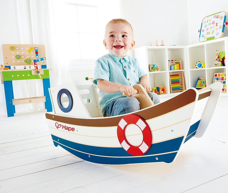 Award Winning Hape High Seas Wooden Toddler Rocking Ride On E0102