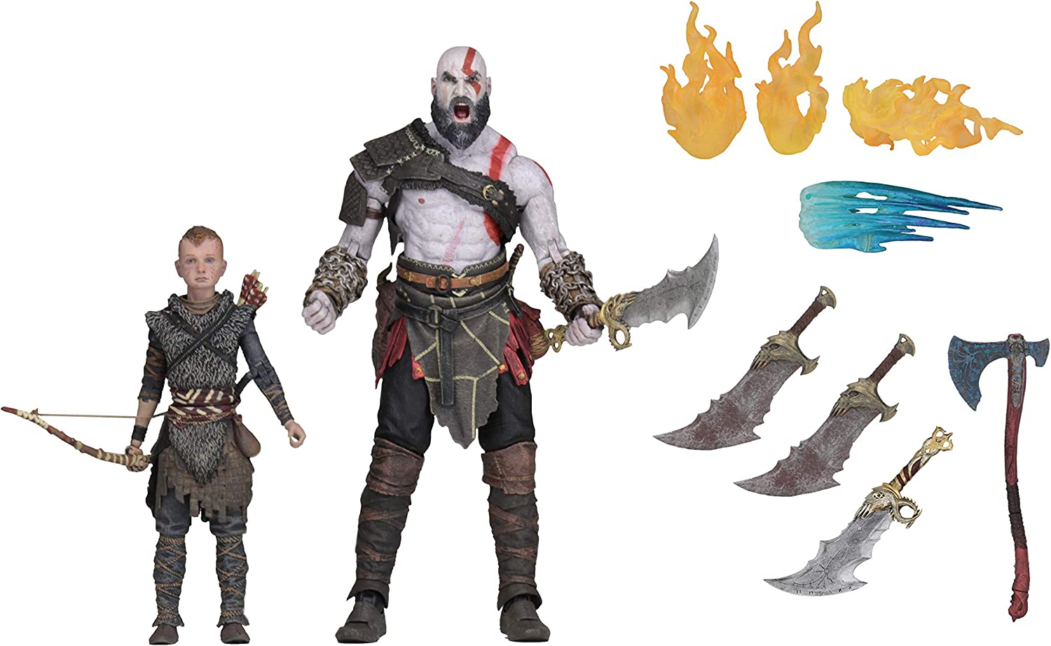 Amazon Com Neca God Of War 2018 7 Scale Action Figure Ultimate Kratos Atreus Multicolor Toys Games