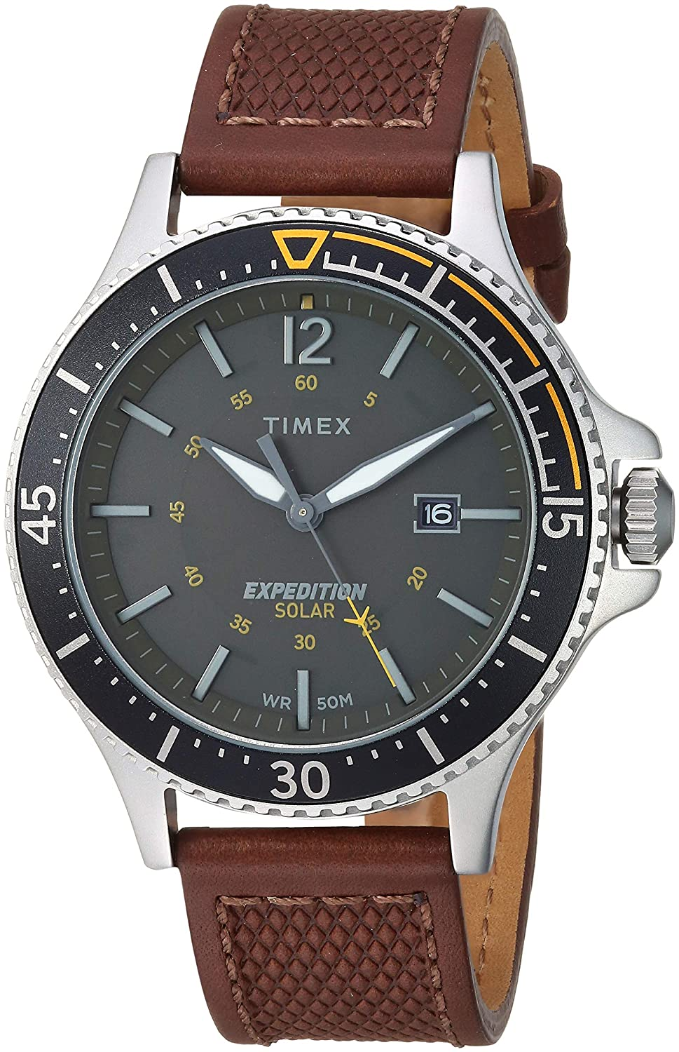 CDM product Timex Men's 'Expedition' Quartz Brass and Leather Casual Watch, Color:Brown (Model: TW4B15100JT) big image