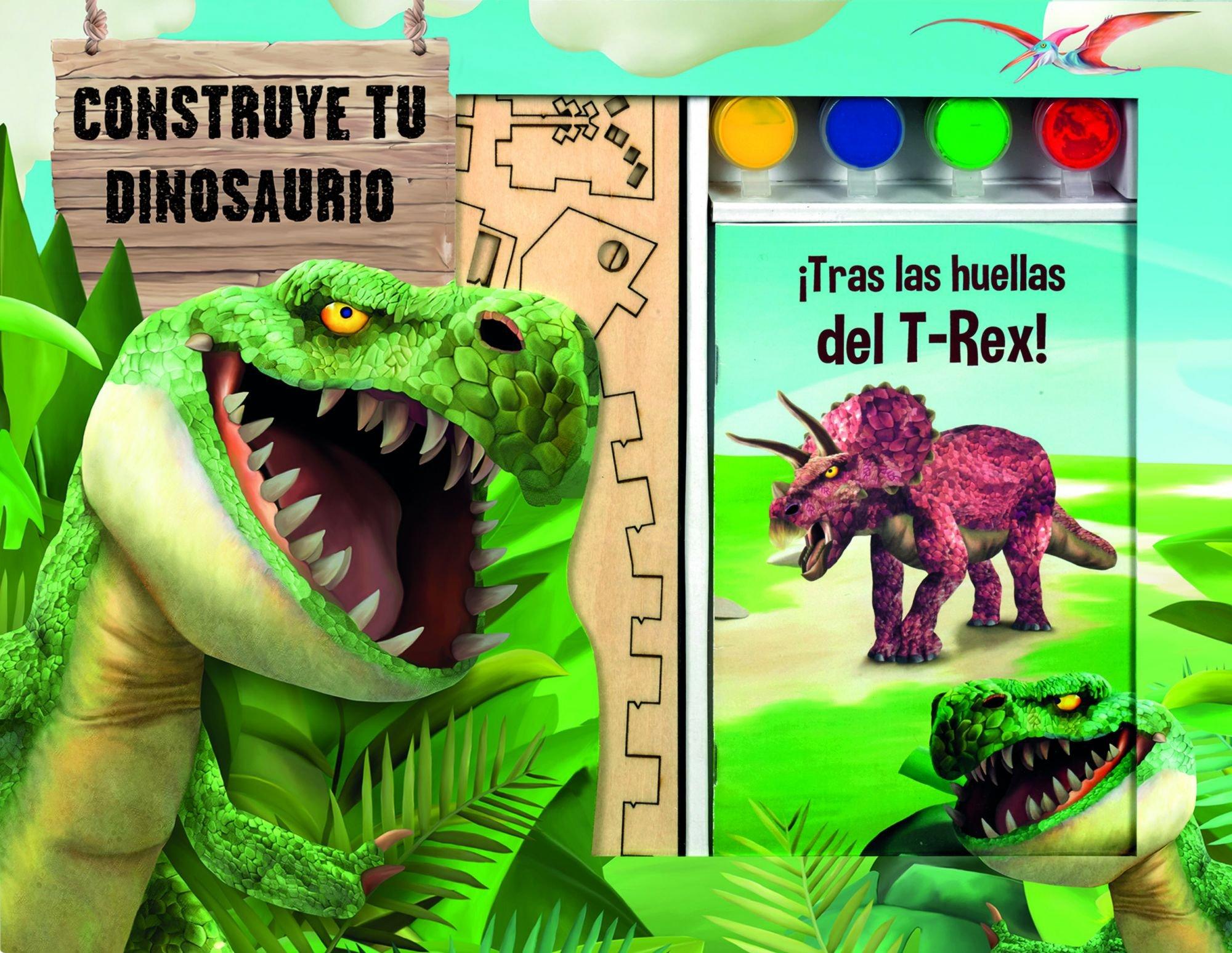 Construye tu dinosaurio (Spanish) Paperback – 2015