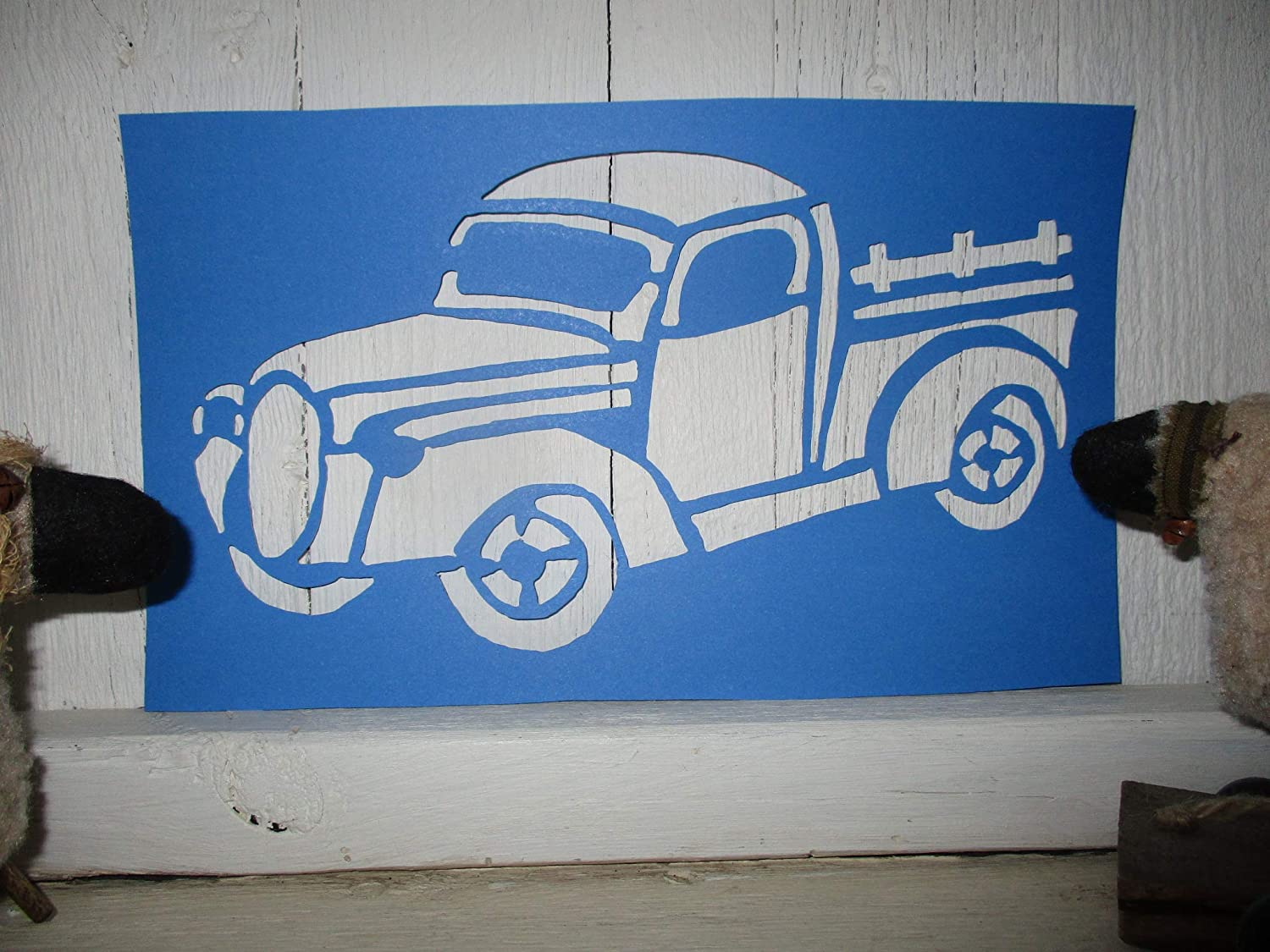 1938 Ford Truck >> Amazon Com Vintage Look Farm Truck 1938 Ford Old Time Old