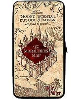 Hogwarts School THE MARAUDER'S MAP Tan/Reds - Hinged Wallet