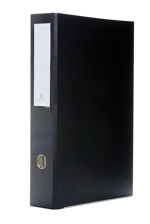 Bindertek 3-Ring 3-Inch Premium Linen Textured Legal Binder, For 8.5 x 14 Paper, Black (3LGLN-BK)