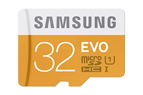 Samsung 32GB up to 48MB/s EVO Class 10 Micro SDHC Card with Adapter (MB-MP32DA/AM)