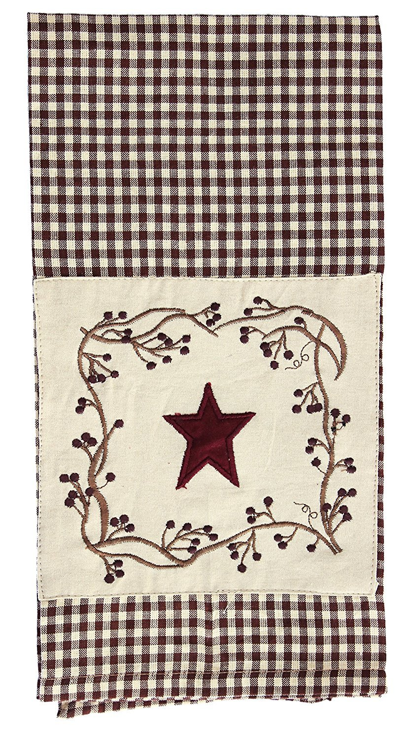 Stars And Berries Patch Country Towel