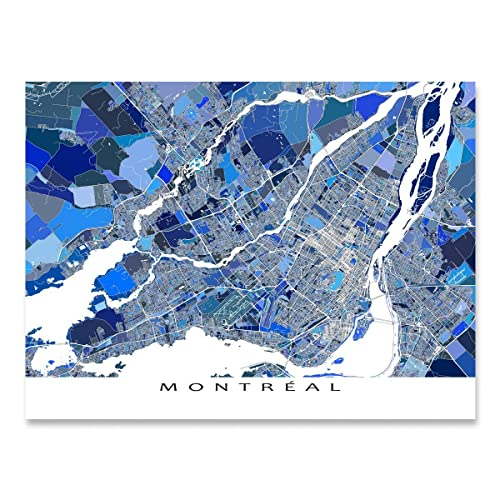 Map Of Canada Quebec Montreal.Amazon Com Montreal Map Art Canada Quebec City Street Art Poster