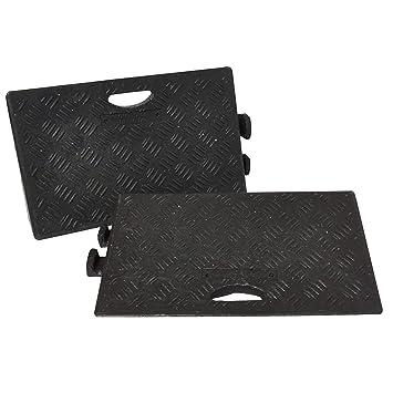 Amazon.es: Traffic Safety Products 5051124416036 Kerb RAMPS - Juego de 2 rampas (2 Unidades), Color Negro