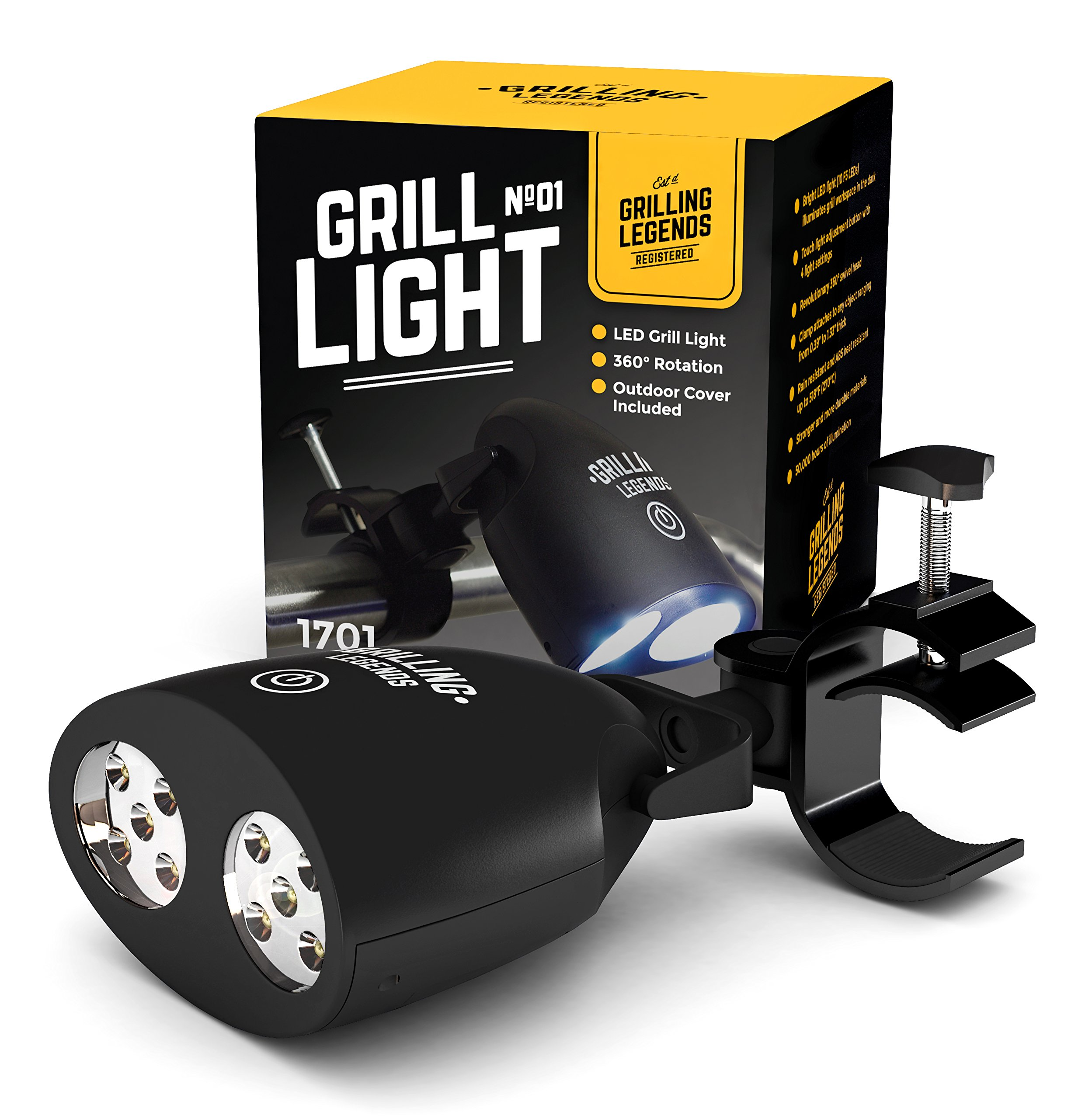 2018 Barbecue Grill Light - 10 Ultra Bright LED Lights - Strong and Weather Resistant - Powerful LED BBQ Light for Charcoal/Electric/Gas Grill
