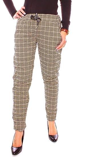 Tropfenverschiffen Premium-Auswahl Beförderung Easy Young Fashion Damen Joggpant Vichy Karo