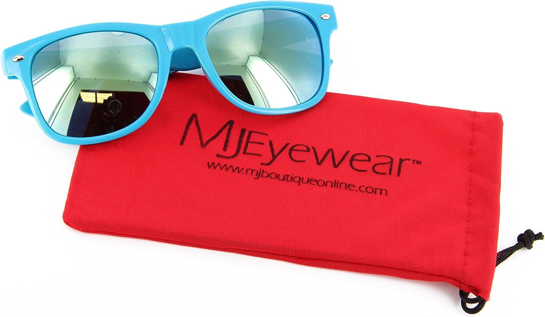 Neon Retro Sunglasses Color Mirror Lens for Men Women