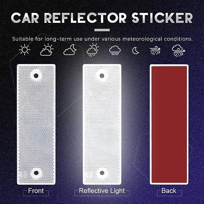 HP Autozubeh/ör Reflector Rectangular Self-Adhesive Pack of 2 Orange