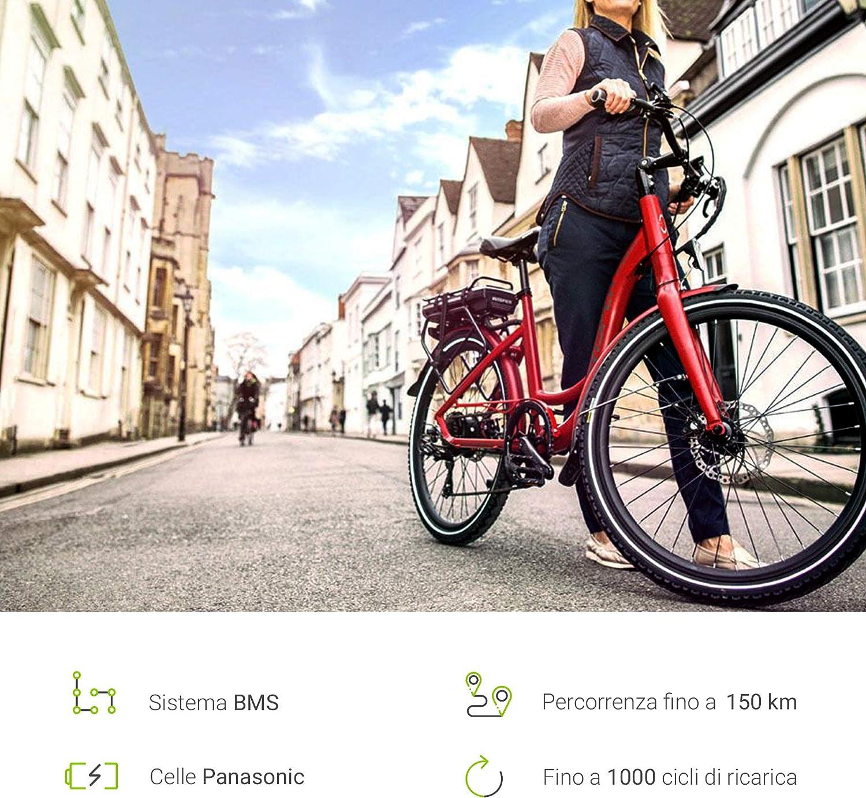 GC® EBIKE Batería 36 V 17 Ah Bicicleta eléctrica Down Tube con ...