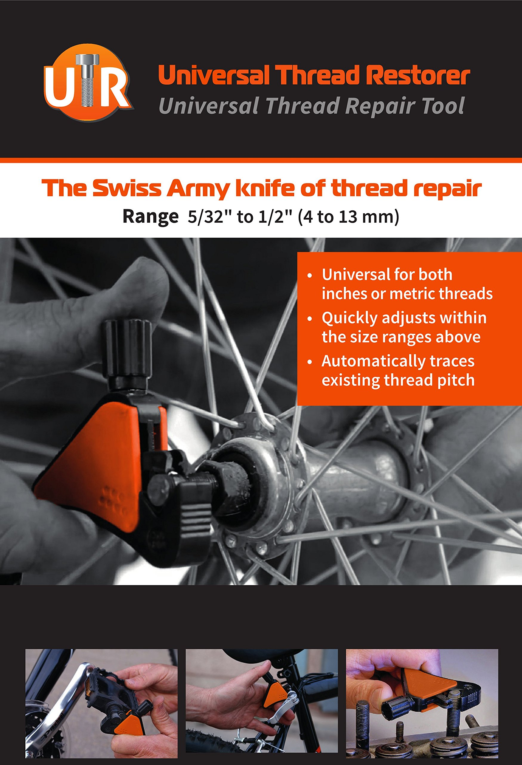 UTR - Universal Thread Repair Tool. Immediately Save, Repair & Bring Damaged Threads Back to life. All in one, 5/32'' to 1/2'' Restorer. by UTR (Image #6)