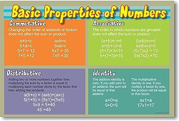 Amazon.com: Basic Properties of Numbers - Educational Classroom ...