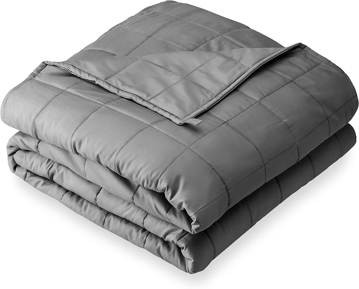 """Bare Home Weighted Blanket for Adults 22lb (60"""" x 80"""") - All-Natural 100% Cotton - Premium Heavy Blanket Nontoxic Glass Beads (Grey, 60""""x80"""")"""