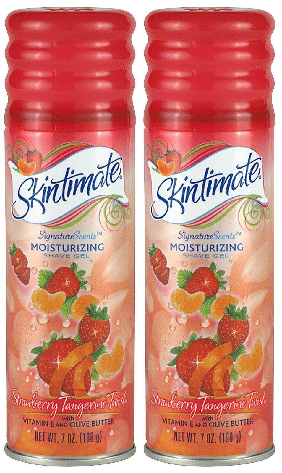 Skintimate Signature Scents Moisturizing Shave Gel, Strawberry Tangerine Twist - 7 oz - 2 pk