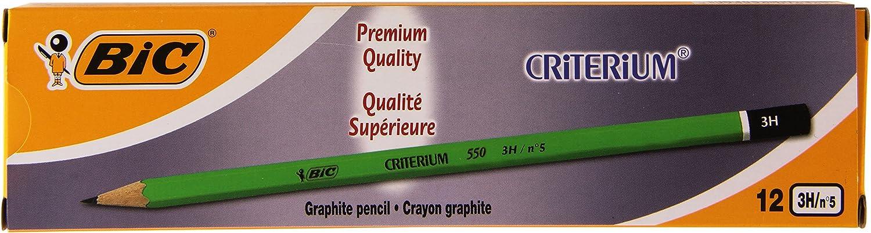 BIC Lot de 3 Crayons graphite Hexagonal Criterium/® 550 4H