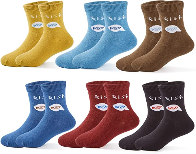 New Girls Kids Natural Bamboo Knee High School Plain Socks Everyday wear Socks