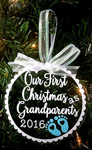 Amazon.com: Our First Christmas as Grandparents 2016 Ornament ...