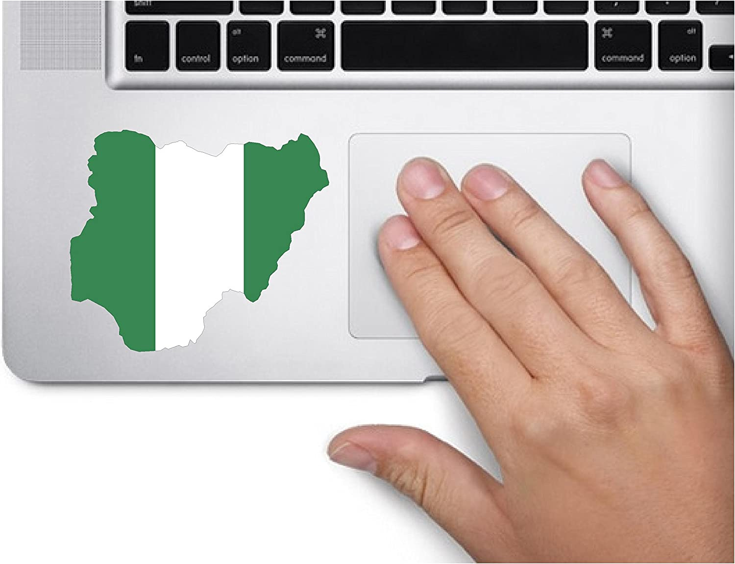 Map with Flag Inside Nigeria 3x3.2 inches Sticker Decal die Cut Vinyl - Made and Shipped in USA