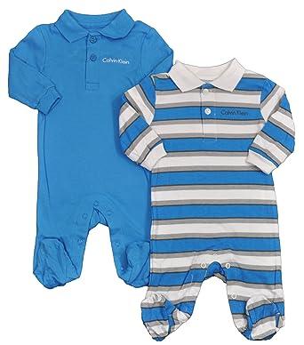 Calvin Klein - Pelele para Dormir - para bebé niño Turquesa 3-6 Meses