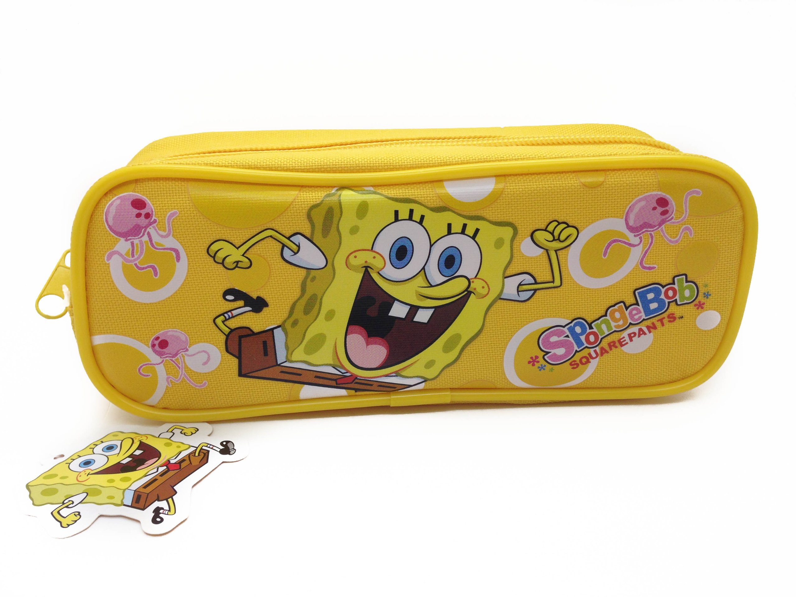 Officially Licensed Single Zipper Pouch Yellow Pencil Case - Spongebob