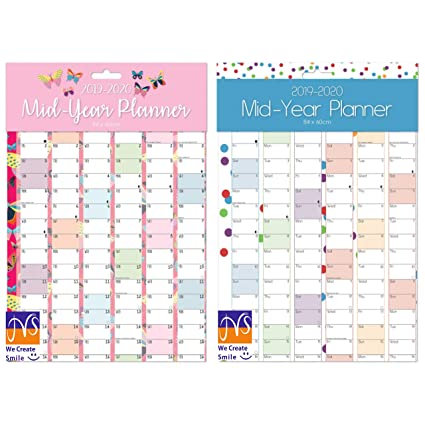 Grand Calendrier Mural Pour Planning.Grand Calendrier Annuel Mural Annee Scolaire 2018 2019 Format A1 Couleur Aleatoire