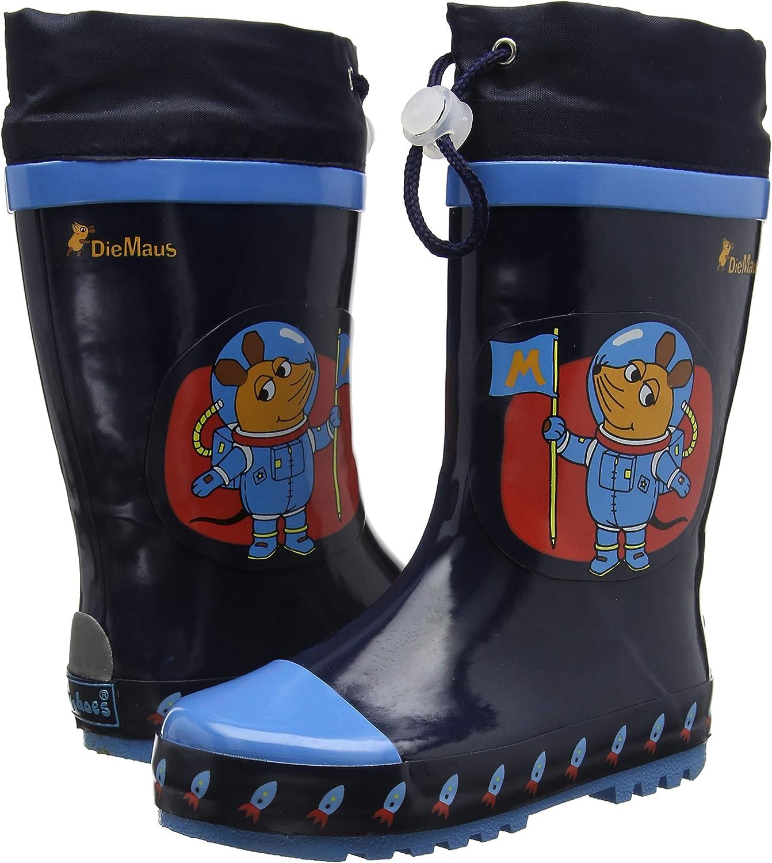 Botas de Goma de Caucho Natural Unisex ni/ños Playshoes Bota de Agua Die Maus Astronauta