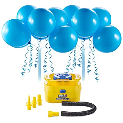 Bunch O Balloons Portable Party Balloon Electric Air Pump Starter Pack (Includes 16x 11 Inch Self-Sealing Blue Latex Balloons) by ZURU: Toys & Games