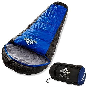 TravelMaster - Saco de dormir tipo momia de 300g/m², calidad