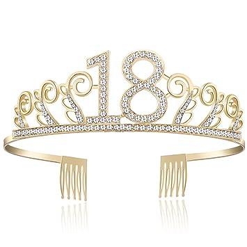 Sparkling Clear Rhinestone Crystals Dangling Beautiful Happy Birthday Tiara