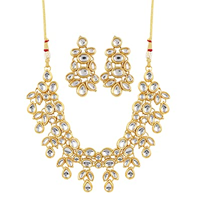 Hearty Women Bollywood Jewelry Necklace Earrings Set Bridal & Wedding Party Jewelry