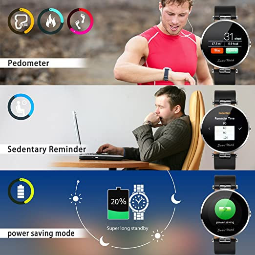 Fantime Smartwatch Reloj Inteligente Bluetooth smartwatch(Mensaje ,Cámara, Bluetooth, Sincronizar Llamada, Podómetro)  para Android y IOS: Amazon.es: ...