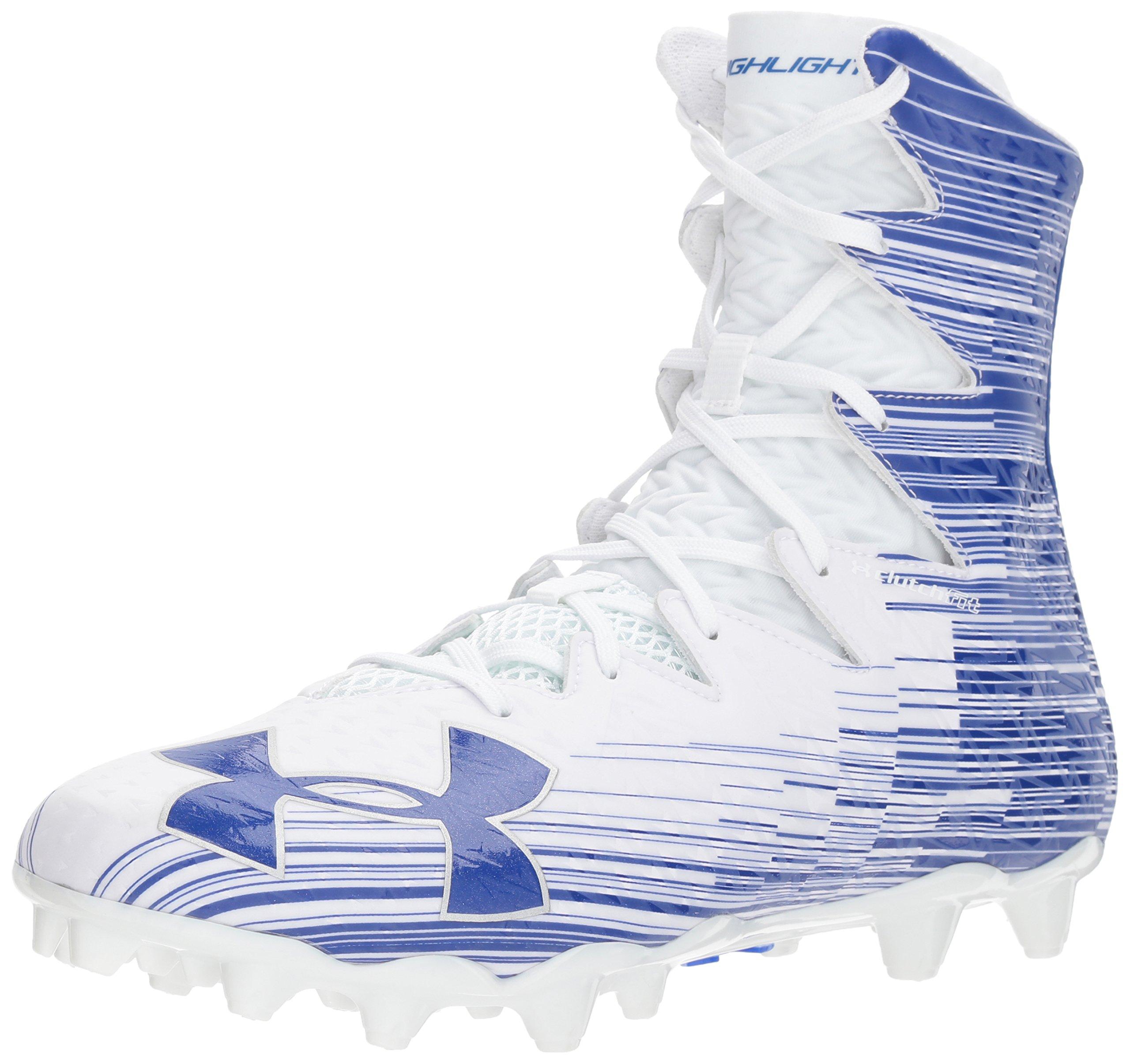 Under Armour Men's Highlight M.C. Lacrosse Shoe White (141)/Team Royal 8.5