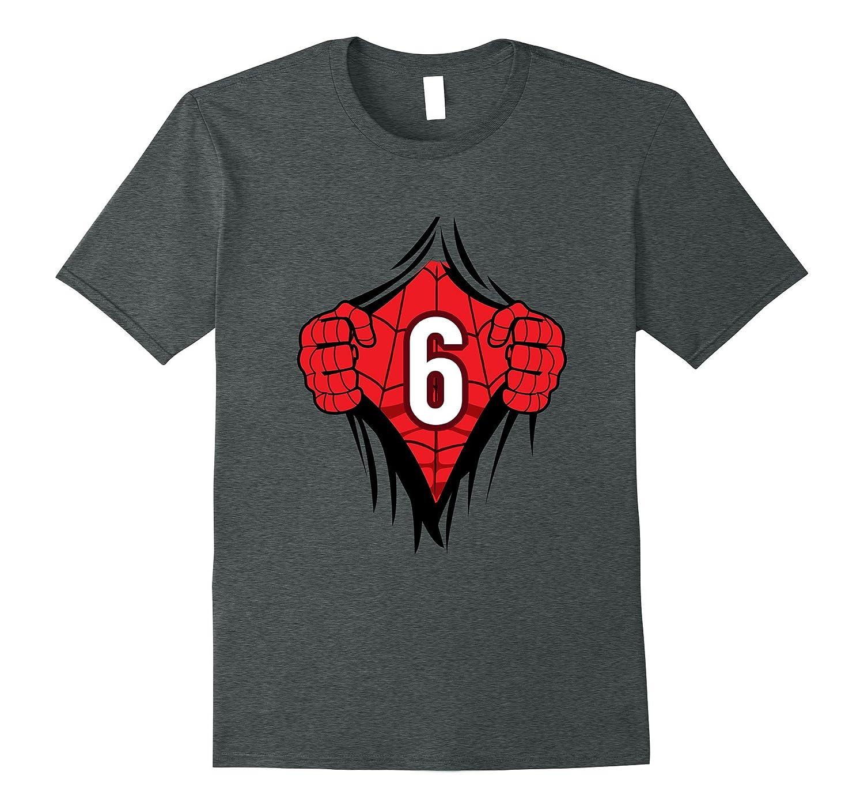 Superhero Birthday Shirt 6 Year Old Tshirt Girls Boys Comic CL