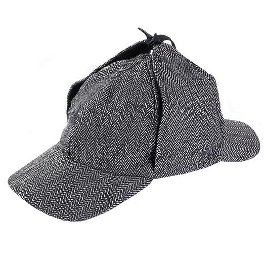 6caa7e8abeae0 Amazon.com  Funny Party Hats Sherlock Holmes Hat - Detective Hat -  Deerstalker Hat - Tweed Sherlock Holmes Hat  Clothing