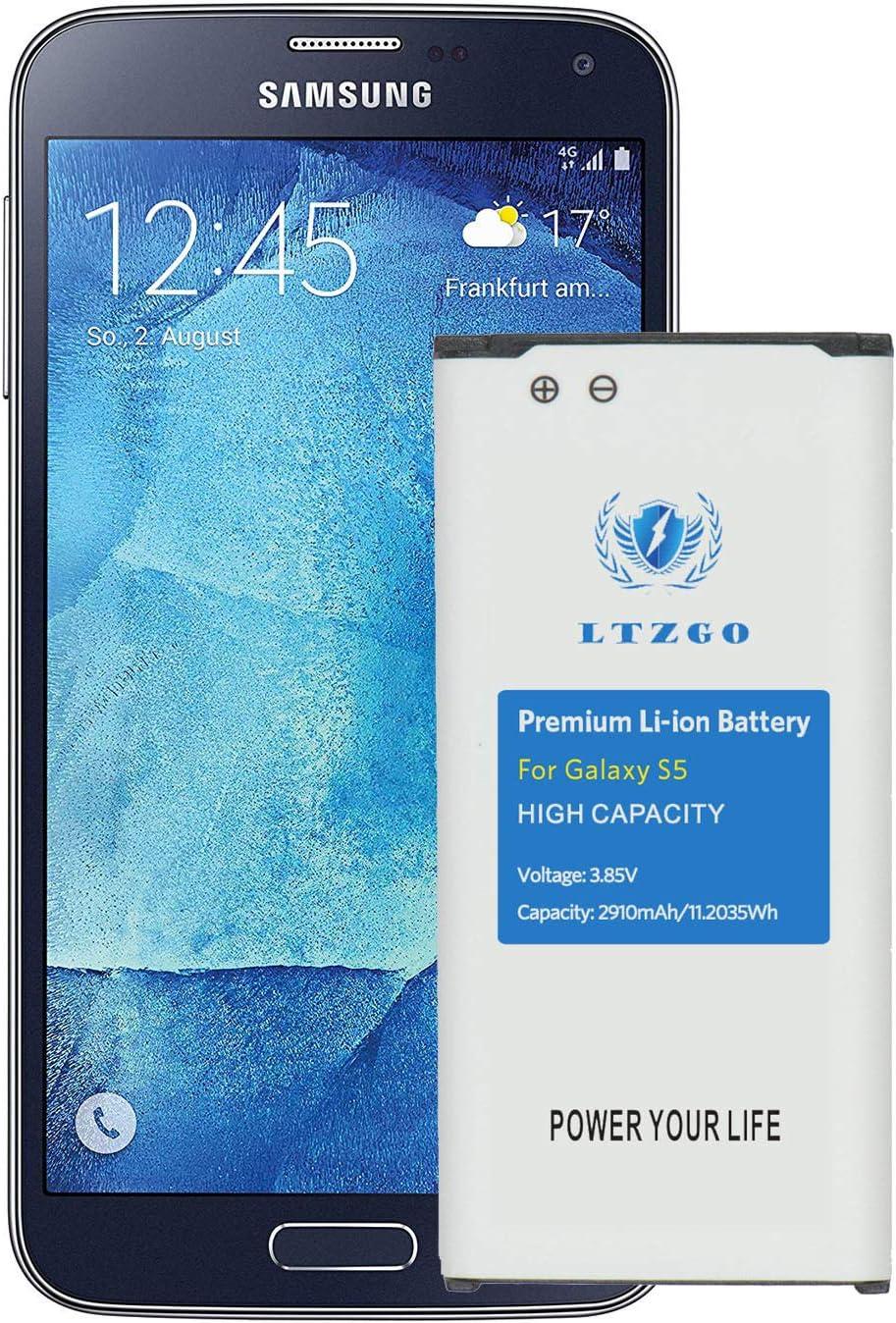 LTZGO Batería Compatible con Samsung Galaxy S5, 2910 mAh Batería ...