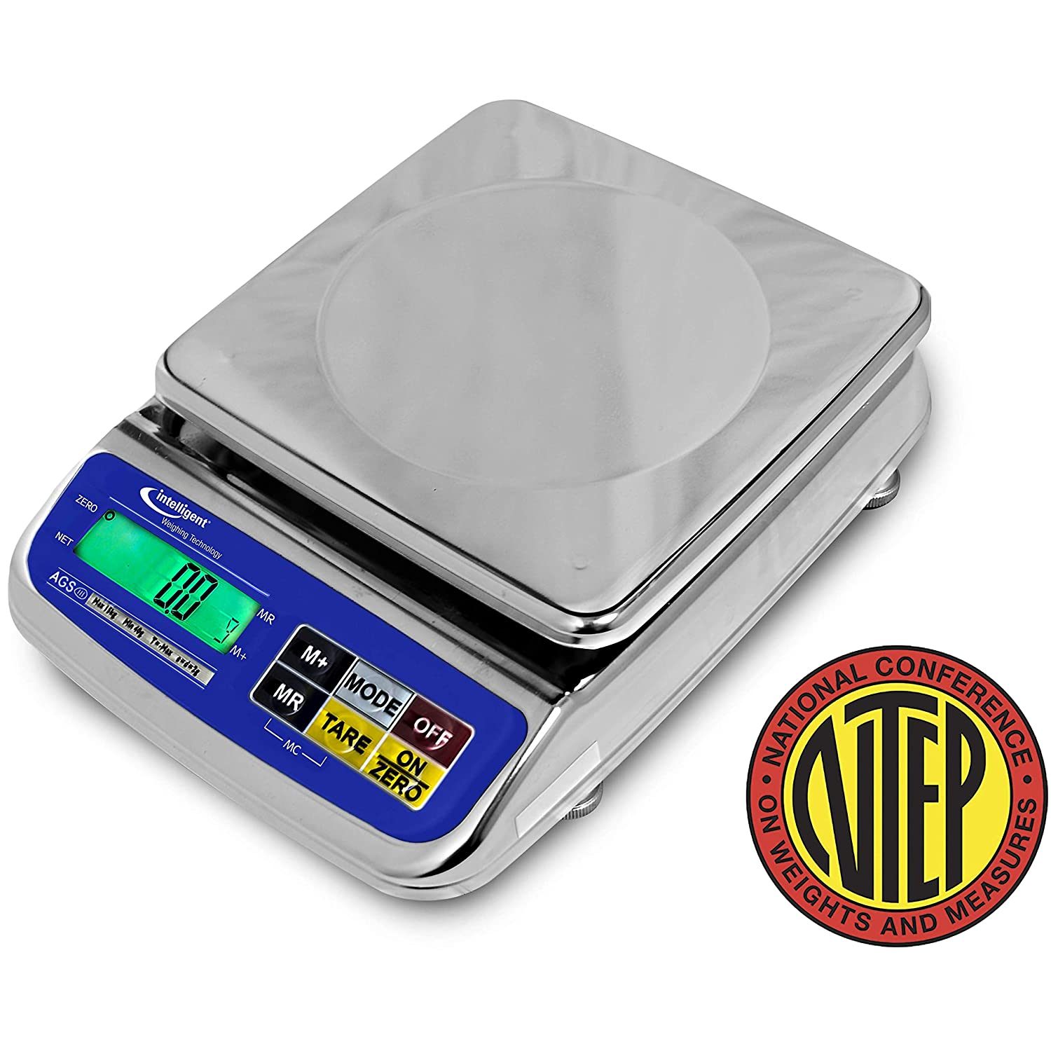 Stainless Steel Portion Control Scale Intelligent AGS-600 600 g x 0.2 g NTEP