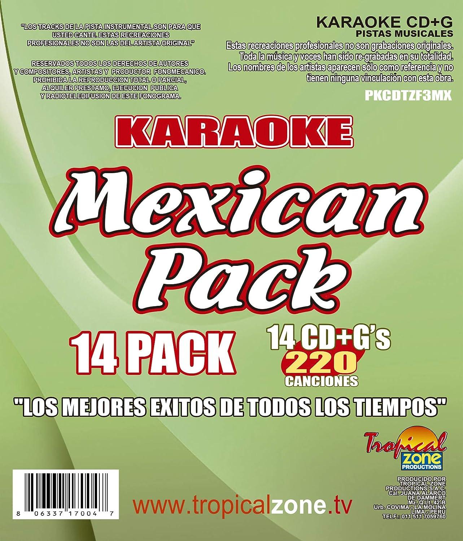 KARAOKE MEXICAN PACK 220 MEJORES CANCIONES: Amazon.es ...