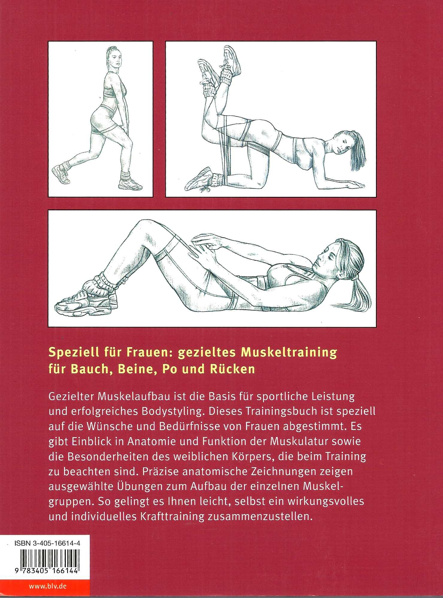 Muskel-Guide speziell für Frauen. Gezieltes Training. Anatomie ...