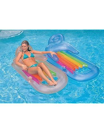 790bdc81614 Intex King Kool Lounge Swimming Pool Lounger with Headrest - Set of 2 (Pair)