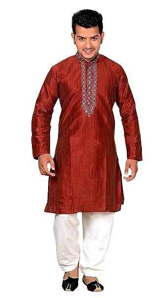 Amazon.com: Para hombre indio granate con crema Sherwani ...
