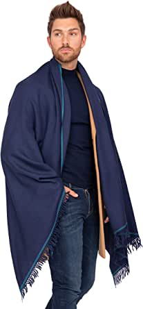 likemary Mens Scarf Merino Wool Oversize Muffler & Travel Blanket Wrap Shoreditch 100 x 200cm