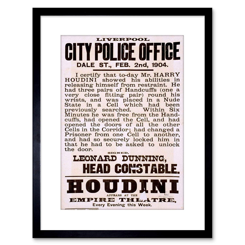 Houdini 7 The Magician Files Vintage Advertising Framed Art