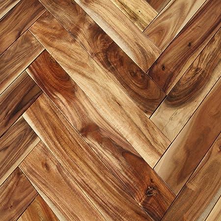 Acacia Asian Walnut Herringbone Natural Solid Wood Flooring Amazon