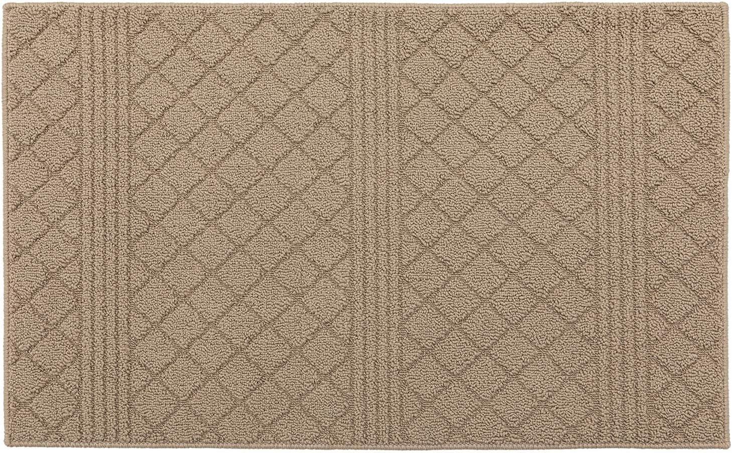 "Indoor Doormat Front Door Mat Non Slip Rubber Backing Super Absorbent Mud and Snow Magic Dirts Trapper Mats Entrance Door Rug Shoes Mat Machine Washable Carpet - Beige, 20"" x 32"""