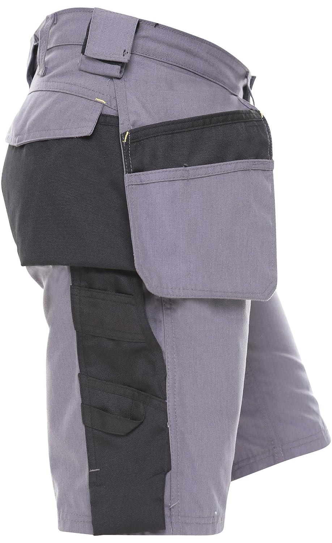 Qaswa Homme Bermuda Short de Travail Pantalon Multi Poches Work Cargo/Shorts