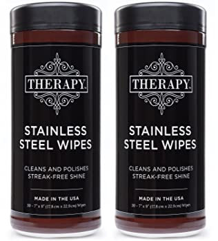 Therapy 30 Wipes Stainless Steel Cleaner
